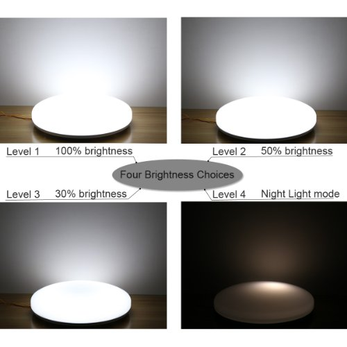 Le super bright 40 watt flush mount led ceiling light fixtures le super bright 40 watt flush mount led ceiling light fixturesceiling lighting daylight white lighting for living room bedroom dining room and so on mozeypictures Gallery