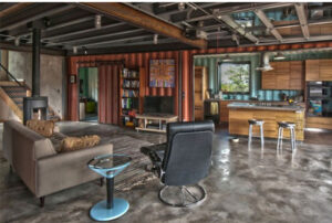 green initiatives Shipping Container Home interior
