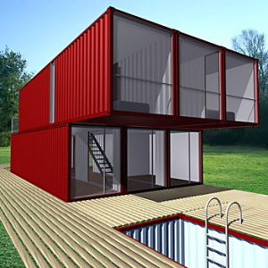 green initiatives flat pack shipping container conversion